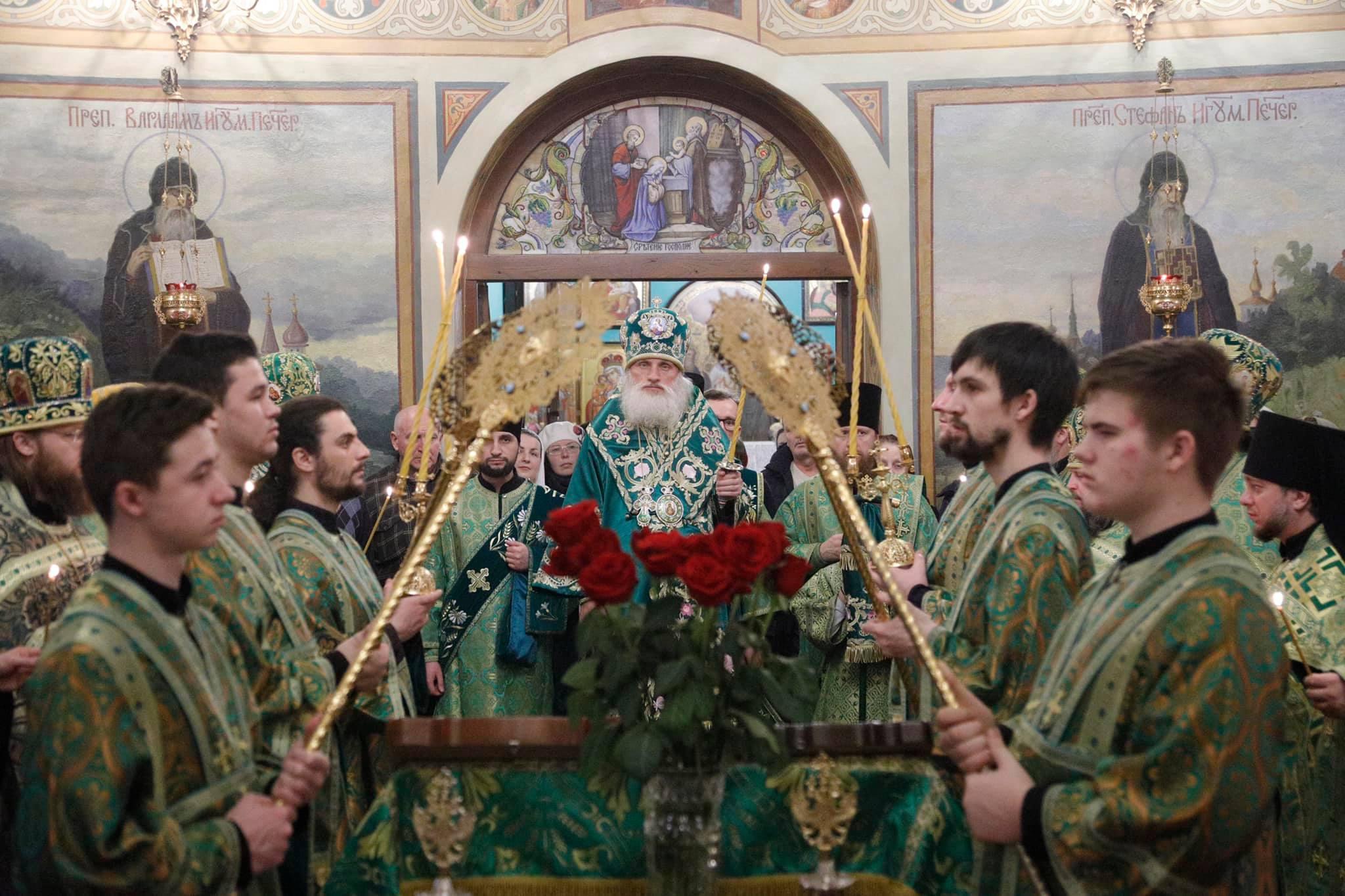 Всенощное бдение накануне престольного праздника преподобного Исидора Пелусиота