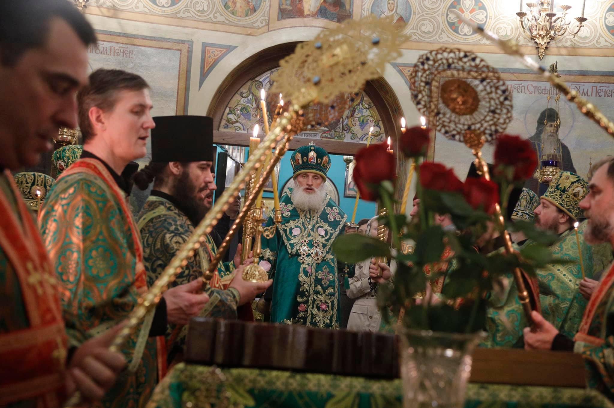 Полиелей святому Великомученику Феодору Тирону и преподобному Агафону Печерскому